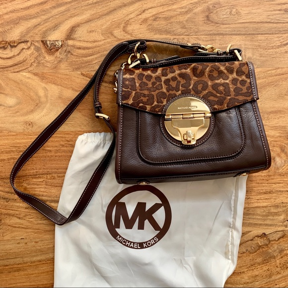 669404db9778 MICHAEL Michael Kors Bags | Authentic Michael Kors Animal Print Bag ...